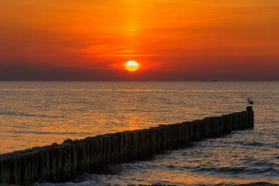 Sonnenuntergang am Weststrand der Halbinsel Darß